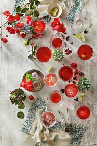 Hibiscus Photograph - Hibiscus Juice Or Agua De Jamaica by Lew Robertson