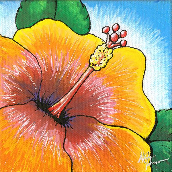 Painting - Hibiscus Number 2 by Adam Johnson