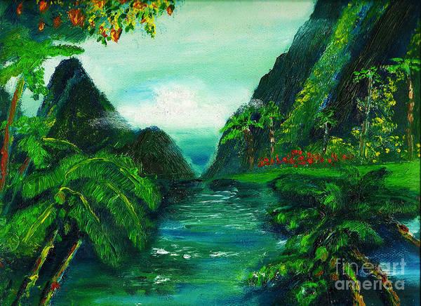 Painting - Hidaway Paradise by Donna Chaasadah