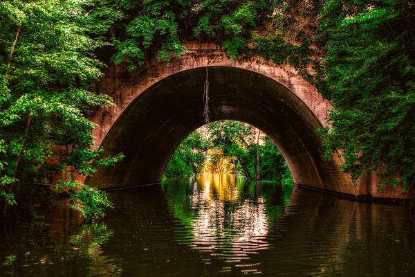 Photograph - Hidden Bridge In Techniclor by Robert FERD Frank