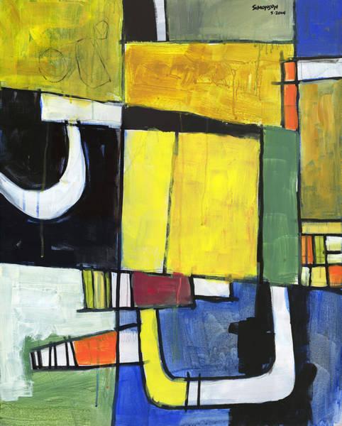 Abstraction Painting - Hidden Door by Douglas Simonson