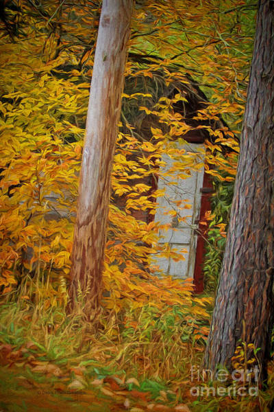 Catskills Painting - Hidden In The Leaves by Deborah Benoit