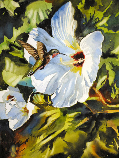 Hibiscus Flower Painting - Hidden Jewel by Spencer Meagher