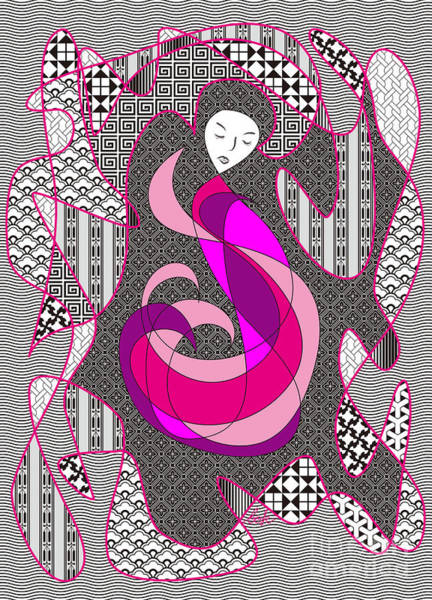 Pink And White Digital Art - Hidden Passion by Beverly Claire Kaiya