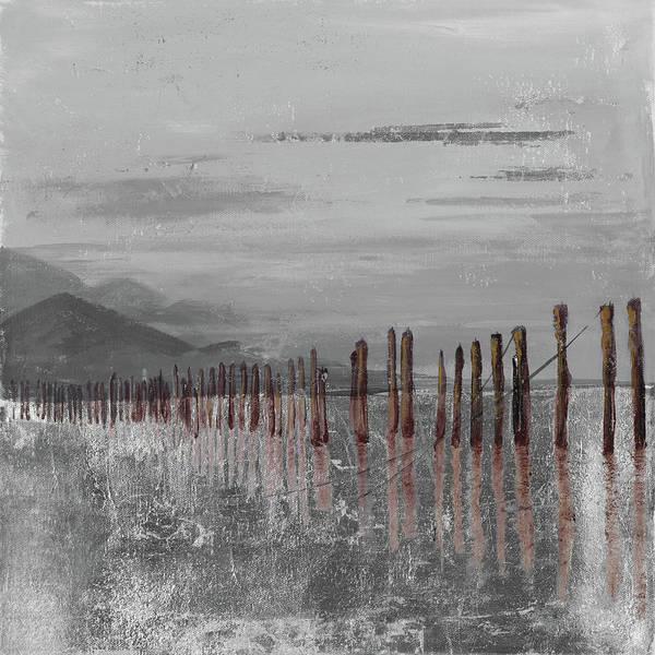 Wall Art - Mixed Media - Hidden Pier (dark Gray) by Patricia Pinto