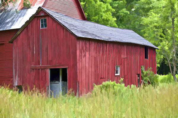 Painting - Hidden Rustic Barn  by David Letts