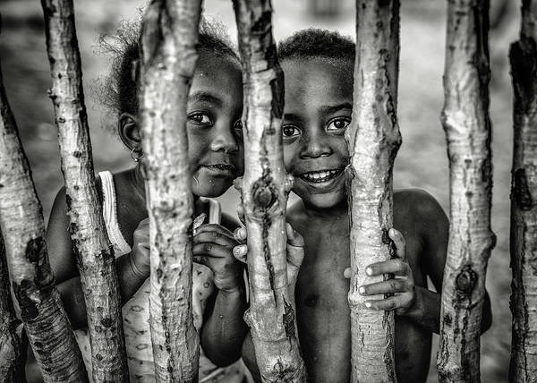 Kid Photograph - Hidden Smiles by Marco Tagliarino