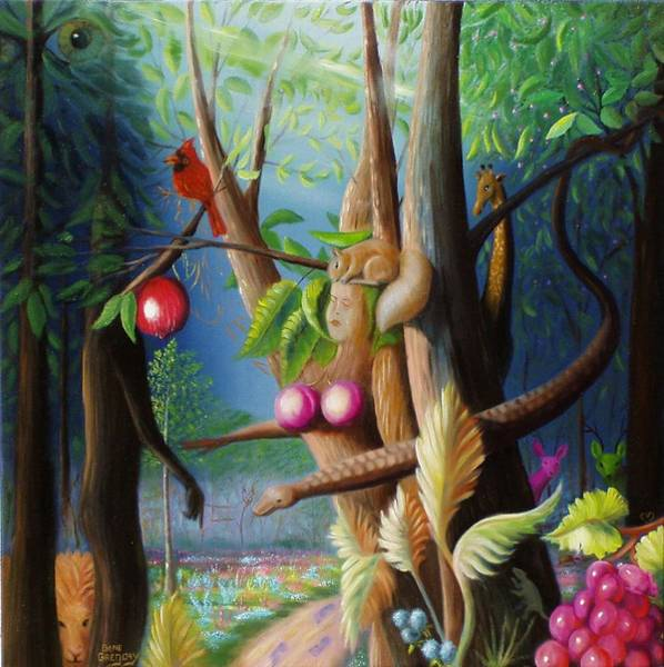 Painting - Hiding In The Garden. by Gene Gregory
