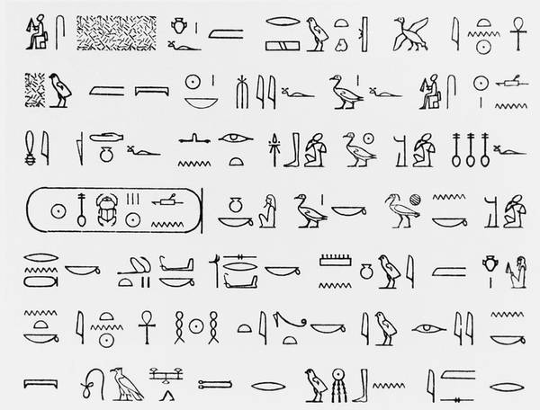 Pictograph Photograph - Hieroglyphics by Science Photo Library