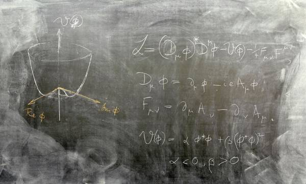 Equation Wall Art - Photograph - Higgs Mechanism Equation by Peter Tuffy, University Of Edinburgh/science Photo Library
