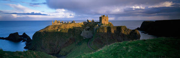 Peacefulness Photograph - High Angle View Of A Castle, Dunnottar by Panoramic Images