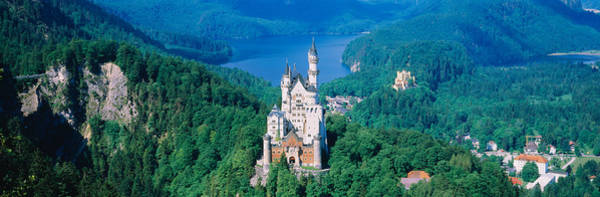 Neo-romanticism Photograph - High Angle View Of A Castle by Panoramic Images