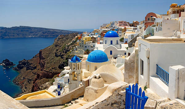 Santorini Photograph - High Angle View Of A Church, Oia by Panoramic Images