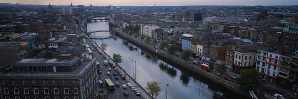 River Liffey Wall Art - Photograph - High Angle View Of A City, Dublin by Panoramic Images