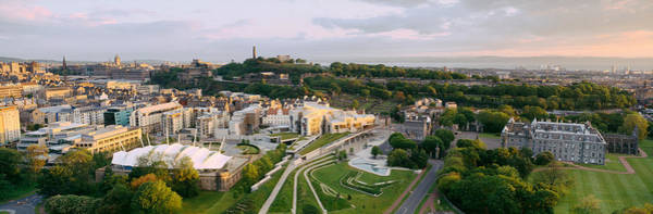 Holyrood Photograph - High Angle View Of A City, Holyrood by Panoramic Images