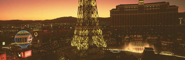Desert View Tower Photograph - High Angle View Of A City, Las Vegas by Panoramic Images