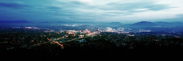 Roanoke Wall Art - Photograph - High Angle View Of A City, Roanoke by Panoramic Images