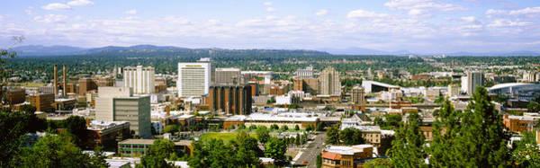 Spokane Photograph - High Angle View Of A City, Spokane by Panoramic Images