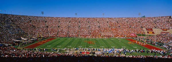 Coliseum Photograph - High Angle View Of A Football Stadium by Panoramic Images