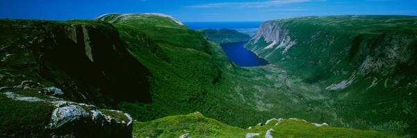 Gros Morne Photograph - High Angle View Of A Plateau, Gros by Panoramic Images