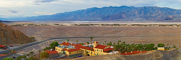 Furnace Creek Photograph - High Angle View Of A Tourist Resort by Panoramic Images