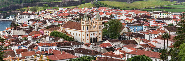 Azores Photograph - High Angle View Of Cathedral In A City by Panoramic Images