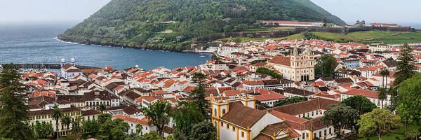 Azores Photograph - High Angle View Of City On Island by Panoramic Images