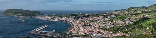 Azores Photograph - High Angle View Of Cityscape On Coast by Panoramic Images