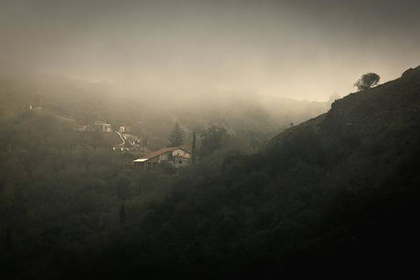 High Angle View Of Cosquin On Foggy Day Art Print by Andres Ruffo / EyeEm