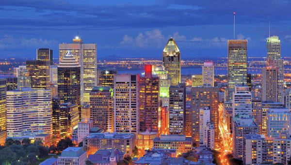 Quebec City Photograph - High Angle View Of Downtown Montreal by Wei Fang