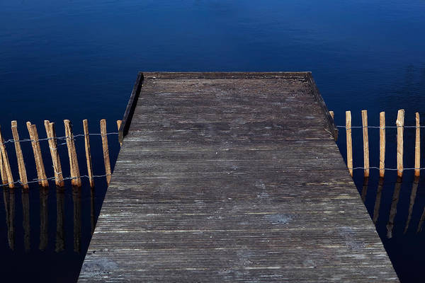 High Angle View Of Jetty Over Lake Art Print by Paulien Tabak / EyeEm