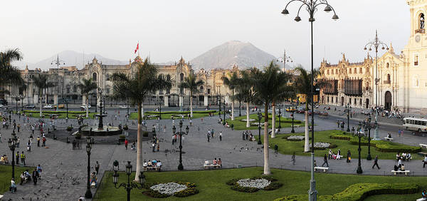 Lima Photograph - High Angle View Of Presidential Palace by Panoramic Images