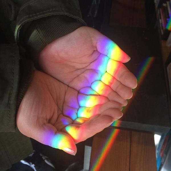 Photograph - High Angle View Of Rainbow Lights by Kitae Um / Eyeem