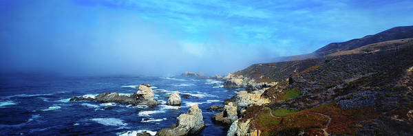 Monterey Bay Photograph - High Angle View Of Rock Formations by Panoramic Images