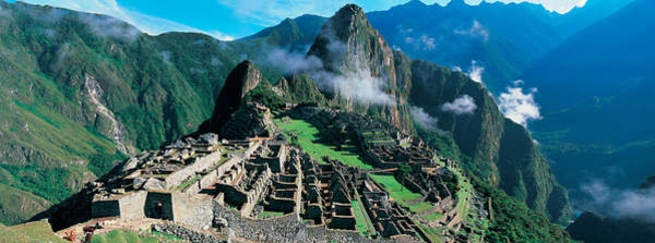 Cusco Photograph - High Angle View Of Ruins Of Ancient by Panoramic Images
