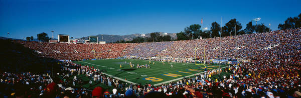 Rose Bowl Photograph - High Angle View Of Spectators Watching by Panoramic Images