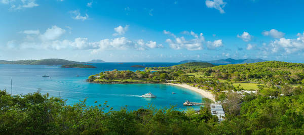High Angle View Of The Caneel Bay, St Art Print