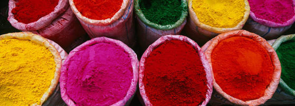 Holi Photograph - High Angle View Of Various Powder by Panoramic Images