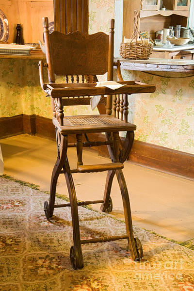 Photograph - High Chair In The Ranch House At The  Macgregor Ranch by Fred Stearns