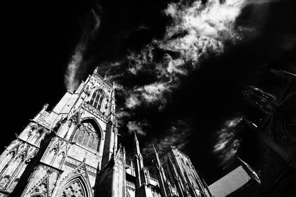 Photograph - High Contrast York Minster Cathedral by Dennis Dame