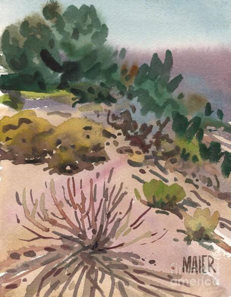 High Desert Wall Art - Painting - High Desert Flora by Donald Maier