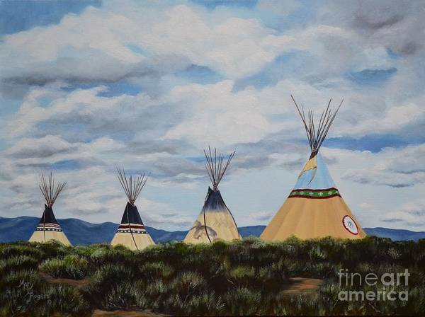 Mary Rogers Painting - High Desert Quad by Mary Rogers