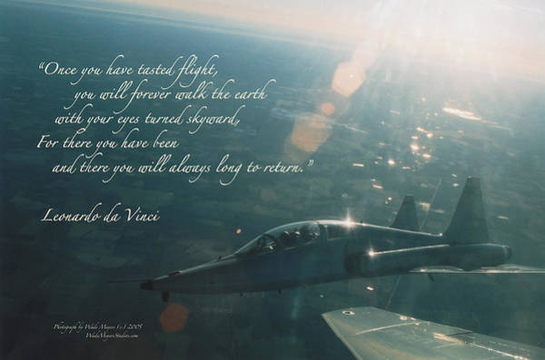Flying Fortress Photograph - T-38 Leonardo Da Vinci by Wade Meyers