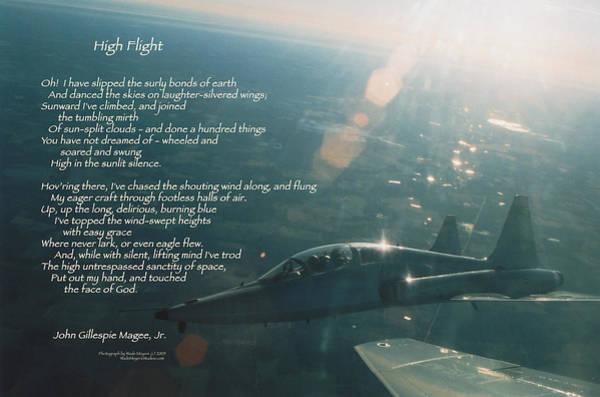 Talon Photograph - High Flight T-38c by Wade Meyers