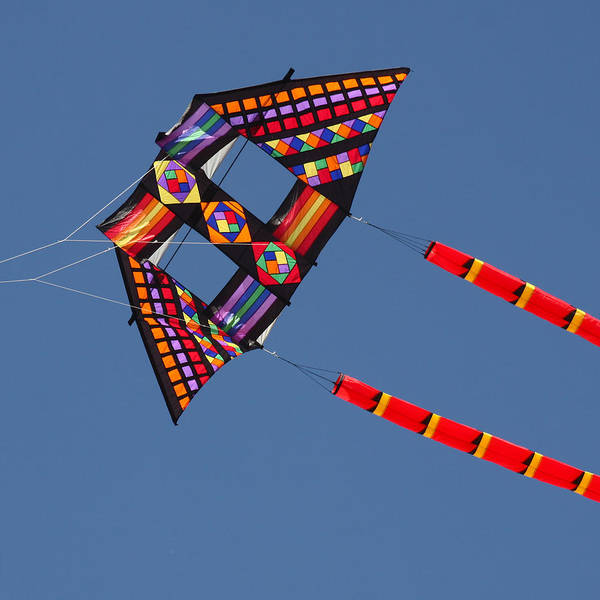 Kite Festival Wall Art - Photograph - High Flying Kite by Art Block Collections