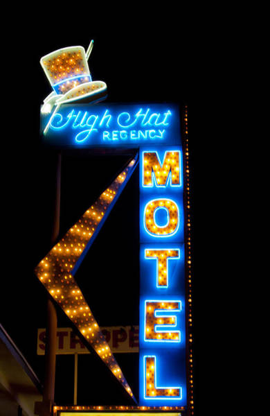 Photograph - High Hat Motel In Las Vegas by Matthew Bamberg