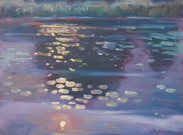Lilly Pad Painting - High Light by Len Stomski