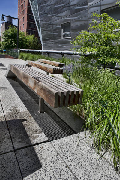 Photograph - High Line Benches by Evie Carrier