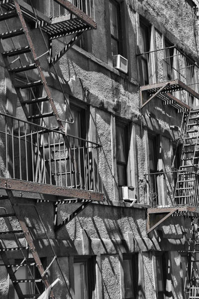 Photograph - High Line Textures Black White Color Splash by Evie Carrier