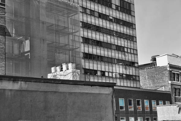 Photograph - High Line View Manhattan Bw With Splash by Evie Carrier